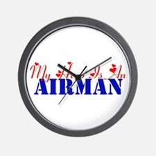 My hero is an Airman Wall Clock