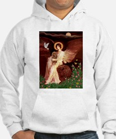 Seated Angel & Ruby Cavalier Hoodie