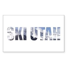 Ski Utah Rectangle Decal