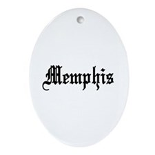 Memphis, Tennessee Oval Ornament