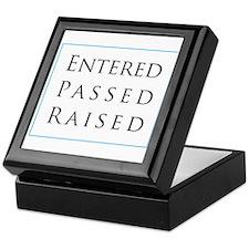 Entered Passed Raised Keepsake Box