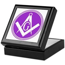 Masonic Square and Compass Keepsake Box