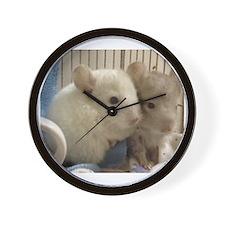 Chinchilla Babies Wall Clock