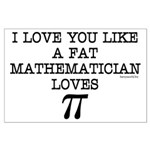 Love of Pi Large Poster