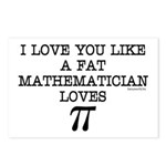 Love of Pi Postcards (Package of 8)