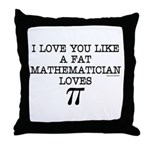 Love of Pi Throw Pillow