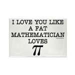 Love of Pi Rectangle Magnet (100 pack)
