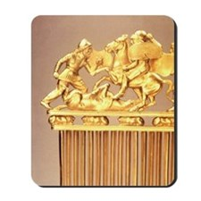 Scythian gold comb showing warriors. Sol Mousepad