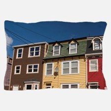 St. John's. Typical colorful St. John' Pillow Case
