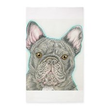 french bulldog drawing 3'x5' Area Rug