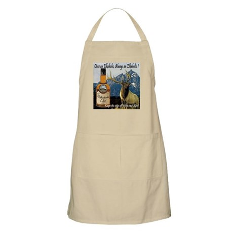 Once an Elkaholic Always an E BBQ Apron