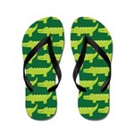 Crocodile Alligator Jungle Flip Flops