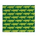 Crocodile Alligator Jungle Throw Blanket