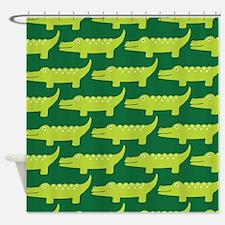 Crocodile Alligator Jungle Shower Curtain