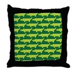 Crocodile Alligator Jungle Throw Pillow