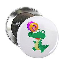 """Alligator 2nd Birthday 2.25"""" Button"""