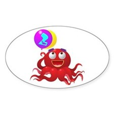 Octopus 2nd Birthday Decal