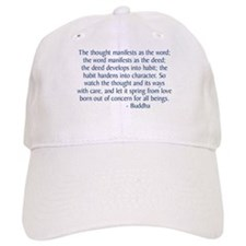 Thought Manifests Baseball Baseball Cap