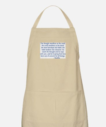 Thought Manifests Apron