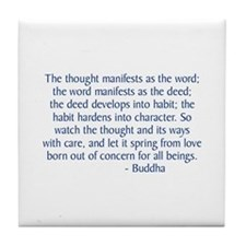 Thought Manifests Tile Coaster