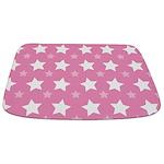Pink Star Pattern Bathmat
