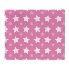 Pink Star Pattern Throw Blanket
