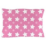 Pink Star Pattern Pillow Case