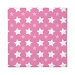 Pink Star Pattern Queen Duvet
