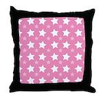 Pink Star Pattern Throw Pillow