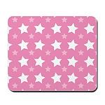 Pink Star Pattern Mousepad