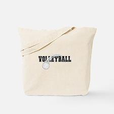 Black Veolleyball Swoosh Tote Bag