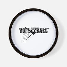 Black Veolleyball Swoosh Wall Clock