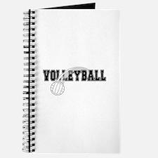 Black Veolleyball Swoosh Journal