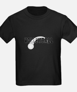 Black Veolleyball Swoosh T