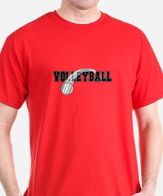 Black Veolleyball Swoosh T-Shirt