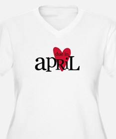 due in april red Plus Size T-Shirt