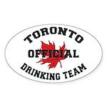 Toronto Drinking Team Oval Sticker