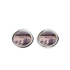 Alhambra, Charles V Fountain, 16th  Oval Cufflinks