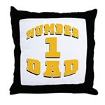 Number One Dad Throw Pillow