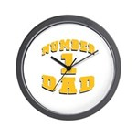 Number One Dad Wall Clock