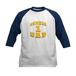 Number One Dad Kids Baseball Jersey
