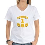 Number One Dad Women's V-Neck T-Shirt