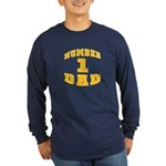Number One Dad Long Sleeve Dark T-Shirt