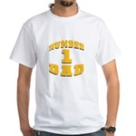 Number One Dad White T-Shirt