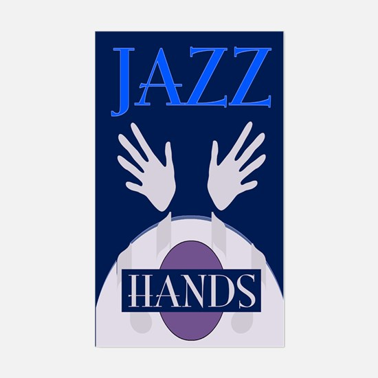 Jazz Hands Rectangle Decal