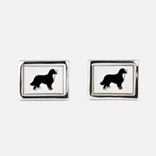 Tri Color Bernese Dog Rectangular Cufflinks
