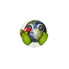 Love The Earth Mini Button (10 pack)