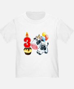 3rd Birthday Party Cow T