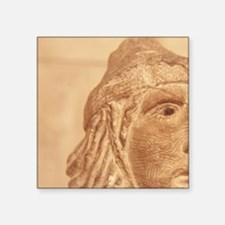 "Carved head, Montfort Castl Square Sticker 3"" x 3"""
