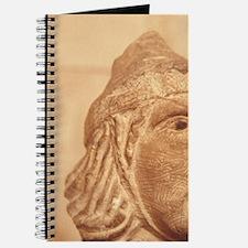 Carved head, Montfort Castle, Crusader 12c Journal